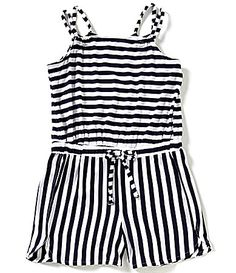 Copper Key Big Girls 716 Stripe Knit Romper #Dillards