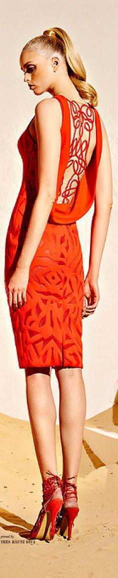 Red dress zuhair murad orange