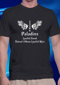 Hey, I found this really awesome Etsy listing at https://www.etsy.com/listing/235043183/dnd-inspired-paladin-t-shirt