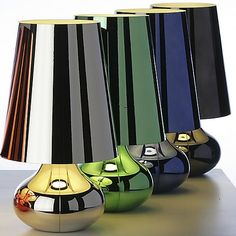 This disco-era table lamp never looked so good. The Kartell Cindy Table Lamp features a classic 1970s shape that