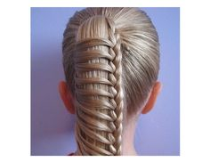 Instagram user itsallhere shows off her awesome ladder braided ponytail.