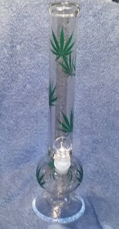 14 Inch Leaf Design Tobacco Water Pipe New Free Shipping!!