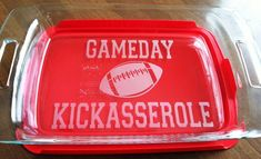 GameDay Kickasserole Pyrex 3 quart casserole dish Football Tailgate Party Lid Included from CrystalCreekBoutique on Etsy. Saved to Kitchen. Football Tailgate, Football Season, Tailgating, Football Parties, Tailgate Parties, Football Stuff, College Football, Alabama Football, Football Moms