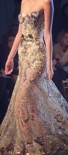 Zuhair Murad, Couture Spring 2014  Thanks, Pinterest Pinners, for stopping by, viewing, re-pinning, & following my boards. Have a beautiful day! ^..^ and Feel free to share on Pinterest ^..^  #topfashion #fashionandclothingblog #fashionupdates *.
