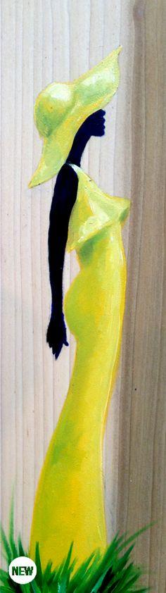 JUST YOU [SUNSHINE] #smallworks - Shanequa Gay / yellow / black art / African American art  ( Prints 11 x 17 $25.00 )