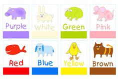 Free Printable Preschool Color Words Flash Card