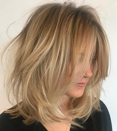 Shoulder Length Tousled Hairstyle