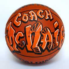 Personalized Graffiti Coaches gift Basketball. by tjartworks