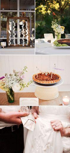 wedding pie and pretty decor