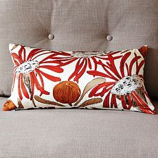 Am loving West Elm's collaboration with South African designers, especially love this Gemma Orkin Protea Silk Pillow Cover