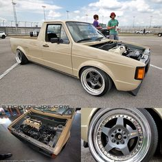 Volkswagen Caddy with a Honda K series engine swap Vw Caddy Mk1, Vw Mk1, Volkswagen Caddy, Volkswagen Golf, Bagged Trucks, Lowered Trucks, Mini Trucks, Vw Rabbit Pickup, Vw Pickup
