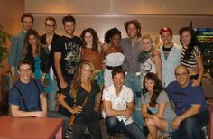 """Celebrity blogger Perez Hilton with the cast of """"Flashdance the Musical"""" at #SegerstromArts 5-19-13. #FlashdanceOC"""