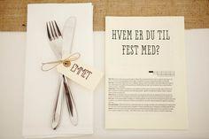 wedding table decoration, wedding table menu card diy wedding menu card Beautiful DIY Wedding - Gent & Beauty Photography: Think Photography