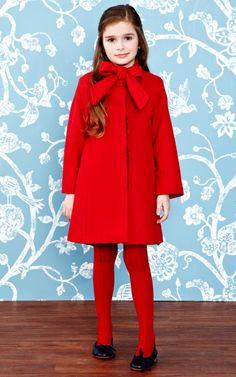 Velvet Bow Coat by Oscar de la Renta for Preorder on Moda Operandi