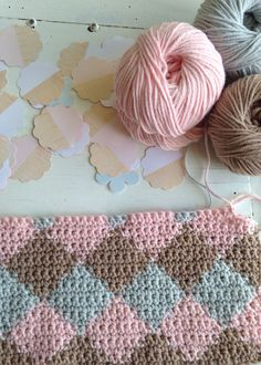 Crochet inspiration, no pattern but I love the the look of this for a baby blanket! Love Crochet, Beautiful Crochet, Crochet Crafts, Crochet Yarn, Yarn Crafts, Crochet Hooks, Crochet Blankets, Yarn Projects, Crochet Projects