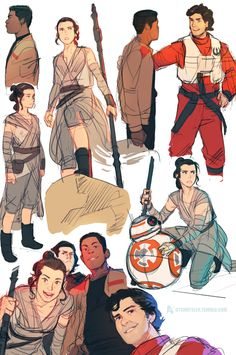 Giancarlo Volpe | ctchrysler: More TFA sketches (Poe's face is too...