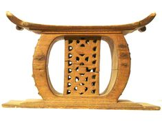 Repaired Ethnic Ashanti Stool #305 | Ashanti/Asante Stools | Stools / Chairs — Deco Art Africa - Decorative African Art - Ethnic Tribal Art - Art Deco