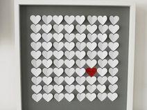3D-Gästebuch-ab 12 Herzen-verschiedene Größen