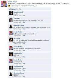 Lol,Black Veil Brides.This shit had me laughing made hard.Idk if it's fake but,still lol.