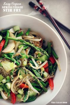 Easy Spring Veggie Stir Fry with Kelp Noodles (omit tempeh and other simple mods for Paleo)