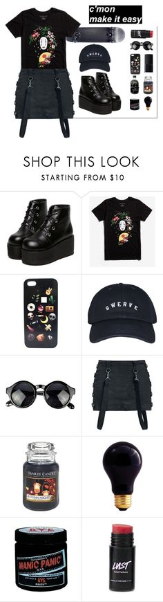 """""""✨👽✨"""" by taaniia ❤ liked on Polyvore featuring NARS Cosmetics, Studio Ghibli, Yankee Candle, Bulbrite and Manic Panic NYC"""