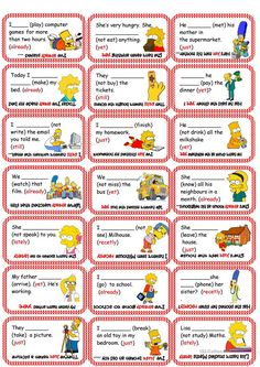 Present Perfect Card Game (already, yet, just, recetly, lately) worksheet - Free ESL printable worksheets made by teachers