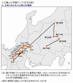 図説 人口で見る日本史 人口重心 - Google 検索