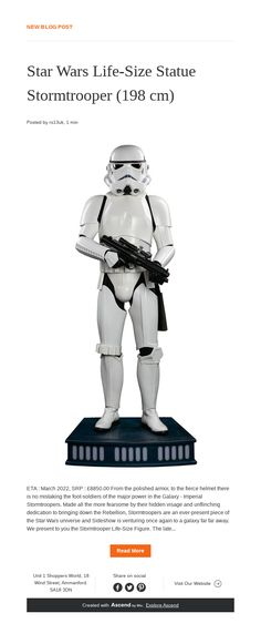 Life Size Statues, News Blog, Statue Of Liberty, Star Wars, Stars, Red, Statue Of Liberty Facts, Statue Of Libery, Sterne