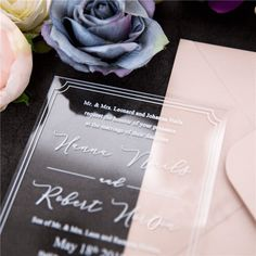 our love is clear-acrylic invitation thickness with border and modern styling Invitation Text, Laser Cut Invitation, Laser Cut Wedding Invitations, Wedding Programs, Custom Invitations, Bridal Shower Invitations, Invitation Design, Wedding Cards, Wedding Favors