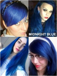 Coloring hair balsam - Midnight blue #haircolor #brighthair #directions #lariche #gothichair #hairfashion #hairspiration #gothichairstyle #coloredhair #hairdye #hairdye #brighthair #girlwithdyedhair   Fantasmagoria.eu - Gothic Fashion boutique Gothic Hairstyles, Permed Hairstyles, Semi Permanent Hair Dye, Bleaching Your Hair, Synthetic Hair Extensions, Bright Hair, Bleached Hair, Grey Hair, Hair Styles