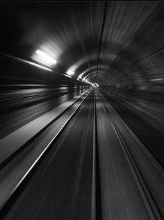 Licht en beweging in zwart/wit
