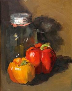 """Love these """"juicy"""" brushstrokes and texture in this Daily Paintworks - Carol Carmichael Painting Still Life, Still Life Art, Small Paintings, Paintings I Love, Painting Lessons, Painting Techniques, Food Painting, Fruit Art, Fine Art Gallery"""