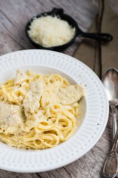 Chicken Alfredo Linguine | Travel Cook Tell