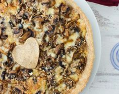 Caramelized Mushroom and Onion Tart 21 Amazing Make-Ahead Recipes for Your Holiday Feast via Brit + Co.