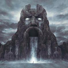 Gates Of Atlantis Design Art of Pierre-Alain D. Digital artist, graphic designer, illustrator and webdesigner. CD artwork, cd a. Fantasy City, Fantasy Map, Fantasy Places, Fantasy Kunst, Medieval Fantasy, Sci Fi Fantasy, Fantasy World, Dark Fantasy, Fantasy Concept Art