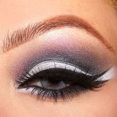 Cinderella eye makeup. Keep skin soft and dewy. Glossy pale lip. Intense eyes.