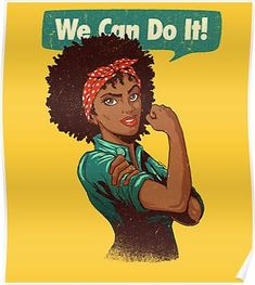"""We Can Do It! Black Girl Black Queen"" Canvas Prints by vomaria Black Love Art, Black Girl Art, Black Is Beautiful, Black Girl Magic, Art Girl, Black Girls Power, Black Girls Rock, Girl Power, Black Power"