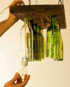 Reuso com garrafas de vidro. #upcycle #inspiração Pinterest:  http://ift.tt/1Yn40ab http://ift.tt/1oztIs0 |Imagem não autoral|