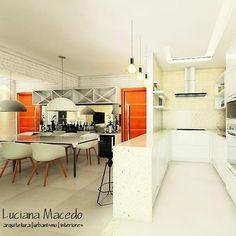 https://www.instagram.com/lucianamacedo.arquitetura/  Cozinha. Integração. Projeto. #artdecor #architect #arquiteturaeurbanismo #ambiente #interiores #inspiration #decorado #decoração #dinningroom #kitchen #instagood #insta #desenho #designlovers #homedecor #designhome #arquitetura #render #3d #3dvisualization #sketchup3d #interiors #friday #cozinha #instadesign