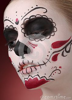 Female In Dia De Los Muertos Makeup Stock Photo - Image: 47203296
