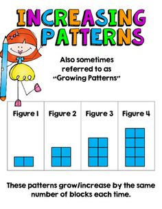 Patterns Unit: Repeating, Increasing and Decreasing Picture and Number Patterns Daily 3 Math, Math 2, Guided Math, Math Patterns, Number Patterns, Math Skills, Math Lessons, Third Grade Math, Grade 2