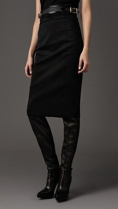 Burberry - ruched waist pencil skirt