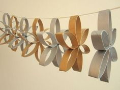 トイレットペーパーの芯でできること④:お部屋の装飾