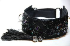 Greyhound collar with tassel, Saluki, Whippet, Lurcher, martingale, handmade