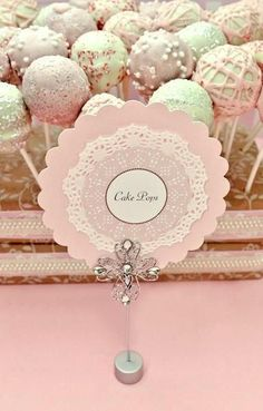 doily food buffet label