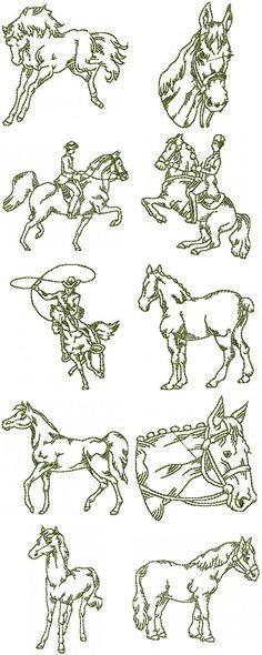 free hand stitching patterns   Free Sewing Pattern – Horse Sweatshirt – Free Applique Patterns