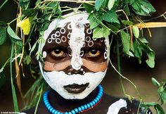"Natural Fashion: Tribal Decoration from East Africa by Hans Silvester ""Body painting, as practiced here in East Africa, the cradle of humanity, seems to me to represent a way of life that dates from. Cara Tribal, Tribal Mode, We Are The World, People Of The World, African Tribes, African Art, African Jungle, African Fabric, African Women"