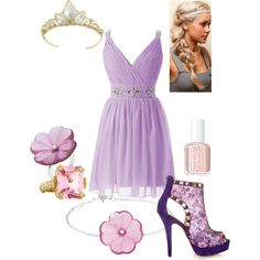 Designer Clothes, Shoes & Bags for Women Princess Inspired Outfits, Disney Princess Outfits, Disney Themed Outfits, Disney Princess Rapunzel, Disney Inspired Fashion, Disney Dresses, Girly Outfits, Dance Outfits, Classy Outfits