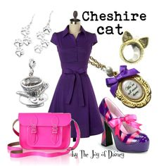 """""""Cheshire Cat"""" by thejoyofdisney on Polyvore; woo, love it."""