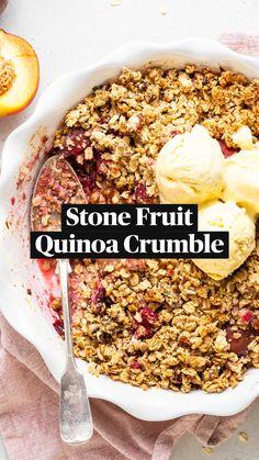 Healthy Dessert Recipes, Gluten Free Desserts, Healthy Baking, Vegan Desserts, Healthy Desserts, Vegan Recipes, Nutritious Breakfast, Vegan Foods, Food And Drink